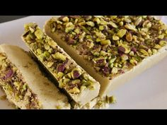 In this video I will show you how to make Persian Tahini Halva with pistachios. This type of halva is crumbly and usually made from tahini (sesame paste) or . Candy Recipes, Gourmet Recipes, Dessert Recipes, Desserts, How To Make Halva, Tunisian Food, Tahini Recipe, Brownies, Pie Cake