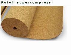 Rotolo di Sughero Supercompresso mm 3 x mt 1 x 10 - 10 mq 180 kg m3