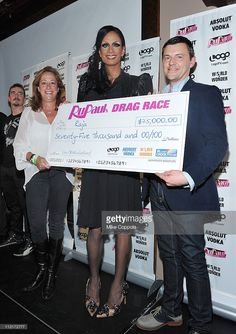 Executive vice president and general manager of Logo, Lisa Sherman, contestant and winner Raja, and Jeffrey Moran of Absolut Vodka attend Logo's 'RuPaul's Drag Race' New York City season finale party at Providence on April 25, 2011 in New York City.