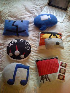 Apple Mac cushions. #apple #mac