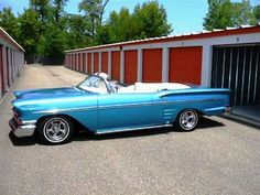 Driver Side View of 1958 Chevy Impala Convertible