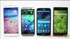 Comparamos las Pantallas del Galaxy S5, HTC One M8, Xperia Z2 y LG G Pro2