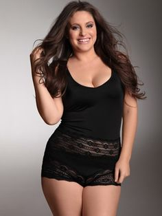 Plus Size Lingerie | Plus Size Camis & Cami-Sets | Mid-Afternoon Romp Camisole and Boy Short | Hips & Curves