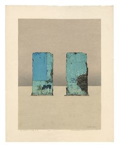 Toronto-based collector Hillel Krauss shares his collection of Sosaku Hanga and Modern Japanese woodblock prints exclusively on IC. All Japanese, Japanese Style, Collagraph, Japanese Artists, Blue Walls, Woodblock Print, Print Artist, Printmaking, Abstract Art