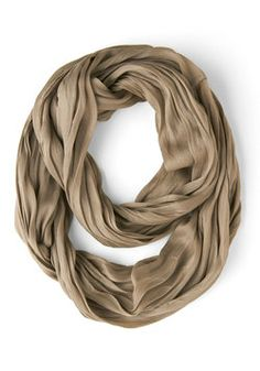 Brighten Up Circle Scarf in Taupe, #ModCloth