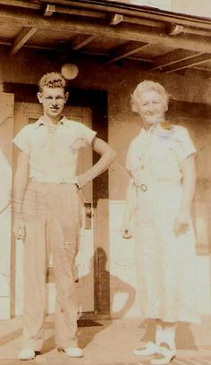 Bill Sauter and his Aunt Margaret