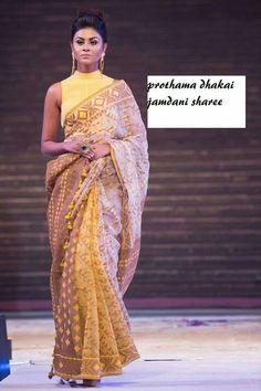 How to Select the Best Modern Saree for You? Indian Wedding Outfits, Pakistani Outfits, Indian Outfits, Dhakai Jamdani Saree, Handloom Saree, Kurta Designs Women, Blouse Designs, Block Print Saree, Modern Saree