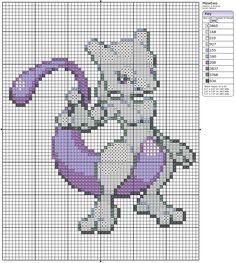 150 - Mewtwo by ~Makibird-Stitching on deviantART