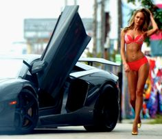 #NSFW: Victoria Secret Models and a Lamborghini Aventador. This is our version of heaven! Click to see the 'hot' video... #carporn