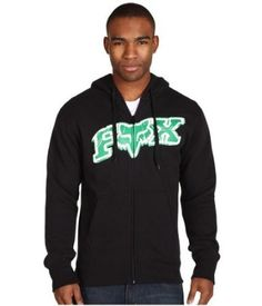 "Fox Racing Men's ""Up Against"" Hoodie Sweatshirt-Black/Green « Clothing Impulse"