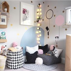 Reading nook styled by Yellow Door Designs, Rebekah the Rabbit dot print by www.tayloreddots.bigcartel.com