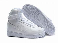 new arrival ff0f4 b8477 Nike Air Feather High All White Damen, Air Force One Schuhe, Nike Air Force
