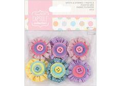 Mini Fabric Flowers  DoCrafts Papermania by MemoriesandPastimes, $5.45