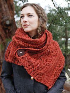 cachecol tricô vermelho