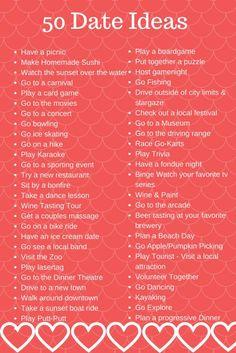 50 Date Night Ideas + FREE Babysitter's Checklist Printable - Anchored Mommy |Date Night| |Babysitter| |Date Ideas|