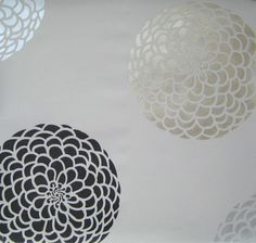 For the kitchen ceiling in silver and yellow?  Flower Stencil Zinnia Grande SM - Stencils even better than wall decals - DIY decor via Etsy