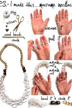 DIY macrame necklace