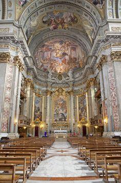 Rome - interior - main altar of Il Jesu church