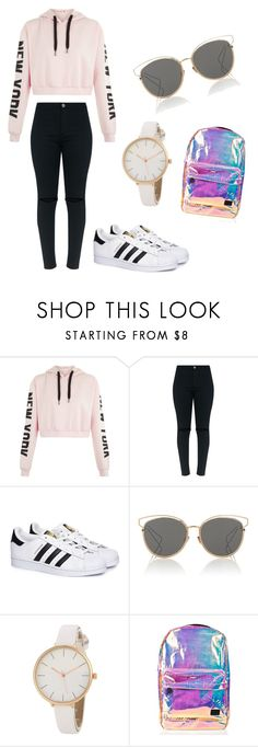 """""""Random Things I Thought Was Cute"""" by brebre25410 ❤ liked on Polyvore featuring adidas, Christian Dior and Spiral"""