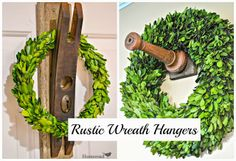 How to turn Salvaged Junk into Unique Wreath Holders ~via Home Road