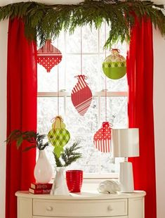 Cute ornaments to add holiday spirit to your windows and doorways!