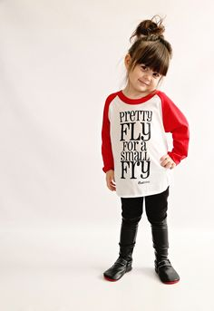 Pretty fly for a small fry | raglan by Root Avenue | unisex kid's tees