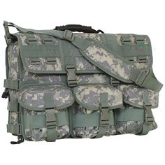"""Tactical Field Briefcase - A must-have case for tactical and military personnel. Key features include: 1 main compartment with numerous organizer pockets, separate padded computer case pocket with removable padded sleeve, etc. Size: 17 1/2"""" x 14"""" x 5""""  Colors: Olive Drab, Black, Army Digital, Coyote, Digital Woodland, Multicam"""