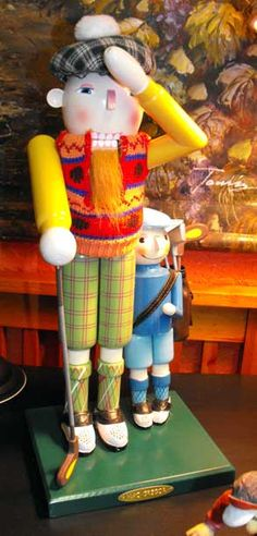MacGregor Golfer and Caddy nutcracker...so cute!