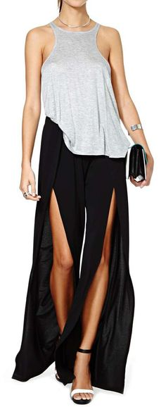 Nasty Gal Slit Second Pant | Shop Clothes at Nasty Gal