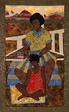 """""""Baby, Hold Your Head Up"""" quilt art by Phyllis Stephens"""