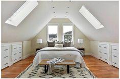 Attic Bedroom Ideas Angled Ceilings, Small Loft Bedroom, Attic Bedroom Storage, Attic Bedroom Small, Attic Bedroom Designs, Loft Room, Attic Rooms, Attic Spaces, Attic Playroom