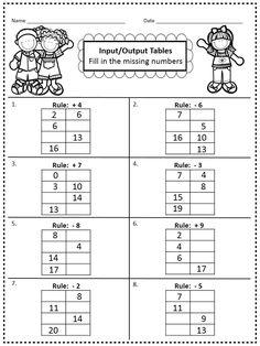 Ficha imprimible de matemáticas para apoyo y repaso sobre