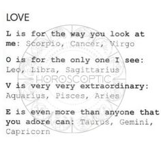 You are the only one I see, you used to look at me in such an extraordinary way Libra loves Scorpio