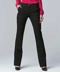 Black Bootcut Pants #zulily #zulilyfinds