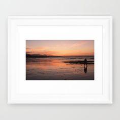 Beach on Fire Framed Art Print by Framed Art Prints, Fire, Beach, Photos, Decor, Pictures, Decoration, The Beach, Beaches