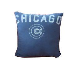 8fa6c17d5e5 Recycled Tshirt Pillow - Chicago Cubs baseball throw pillow travel cushion