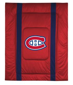 NHL Montreal Canadiens King Bed Comforter Sidelines Hockey Team Logo Bedding, As Shown Montreal Canadiens, Chicago Blackhawks, Chicago Cubs Logo, Nhl Jerseys, Tampa Bay Lightning, Sport Outfits, Hockey, Comforters, Nfl