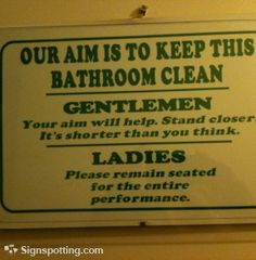 A Unisex Bathroom? ...How OFTEN do you clean It?