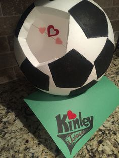 soccer ball valentines day box
