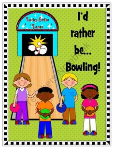 Fun bowling clipart! Commercial use welcome. $