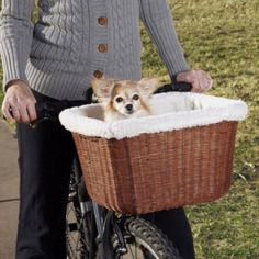 Wicker Pet Bike Basket