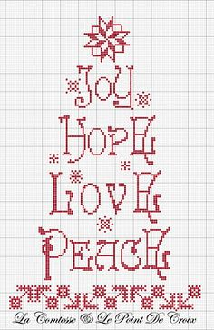 Lovely simple Christmas design for cross stitching