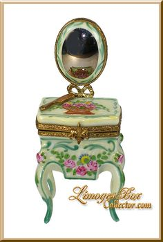 Limoges Boxes | Vanity Table & Mirror Limoges Box