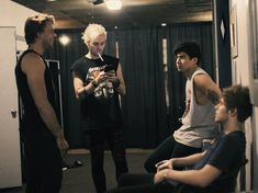 """at first I thought michael was smoking but then I was like """"nah I'm pretty sure thts a toothbrush""""//"""