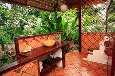 A Costa Rican Paradise - Without Walls!  this is the bathroom