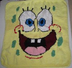Spongebob Baby Blanket Pattern by Knittnpretty on Etsy, $3.99