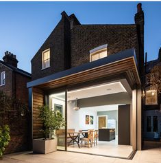 Garage To Living Space, Open Plan Kitchen Living Room, Living Spaces, Corner Bifold Doors, Corner Door, House Extension Plans, Rear Extension, Architects London, House Extensions