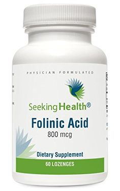 Folinic Acid Lozenge | 60 Lozenges | Provides 800 mcg of Folate | Non-GMO | Physician Formulated | Seeking Health -- You can find more details by visiting the image link.