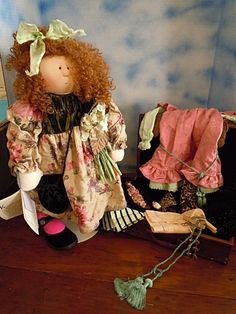 """Rare! 1999 Cloth Little Souls 24"""" Camille w/ Trunk, Clothes & Acces. G. Wilson #LittleSouls"""
