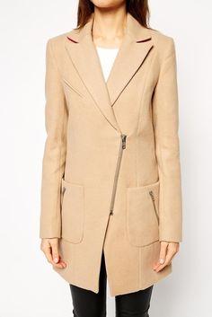 Beige Classy Zip Jacket #genuine-people